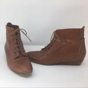 Loeffler Randall Brown Booties Size 8